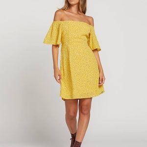 Volcom Hey Bud Dress size XS in Yellow